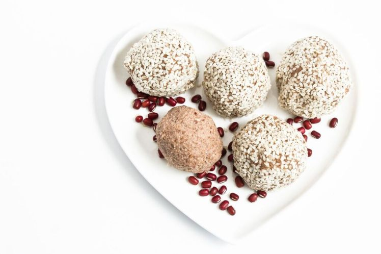 Adzuki, Coconut, Maca and Sesame Seed Bliss Ball