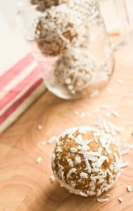 Apricot, Lime, Banana, Coconut and Cashew Nut Bliss Balls
