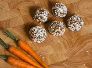 Raw Carrot Cake Bliss Balls