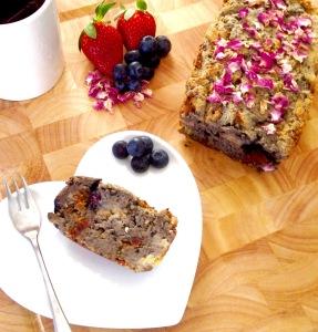 Vegan Banana, Mixed Berries, and Mixed Seeds & Nuts Bread