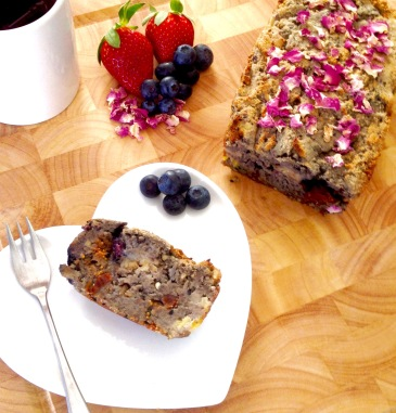 Vegan Banana, Mixed Berries, and Mixed Seeds & Nuts Bread