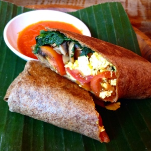 Tofu and Mushroom Wrap at Betelnut Cafe