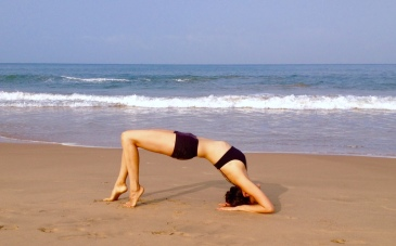 Wheel Yoga Pose at Agonda Beach India