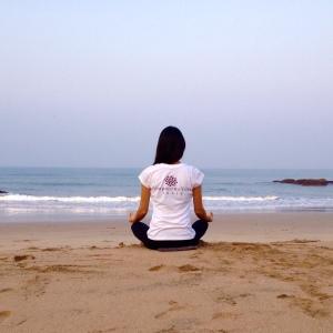 Morning Meditation at Agonda Beach