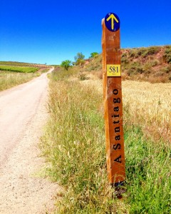 Sign to Camino De Santiago