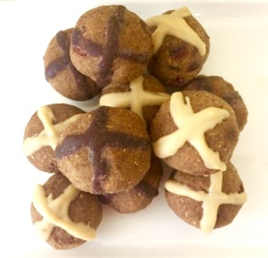 Vegan Hot Cross Bun and Easter Bunny Bliss Balls