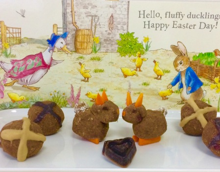 Hot Cross Bun and Bunny Easter Bliss Balls