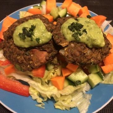 Vegan Zucchini, Sweet Potato and Lentil Patties