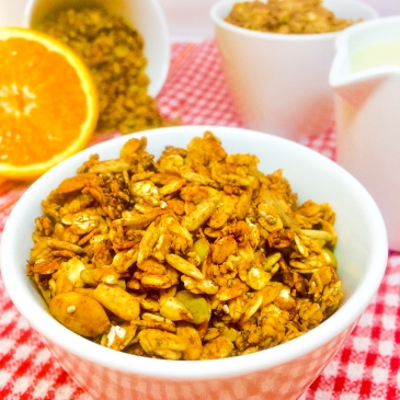Crunchy Orange, Chocolate and Coconut Granola (Vegan)